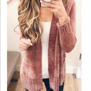 Ann Taylor Dusty Rose Chenille Sweater XS